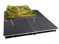 подиум под аттракцион для макета железной дороги
