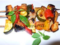 Брошетт на шпажке из овощей