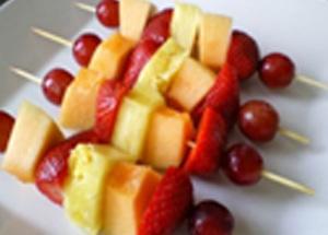Канапе на праздник с фруктами