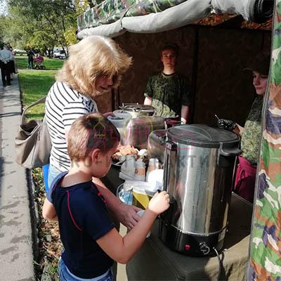 Полевая кухня на избирательном участке
