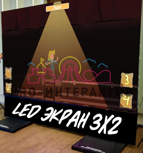 Интерактивные зоны с LED экраном