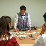 Аренда белых игральных столов