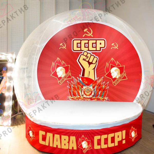 Фотозона для вечеринки в стиле СССР