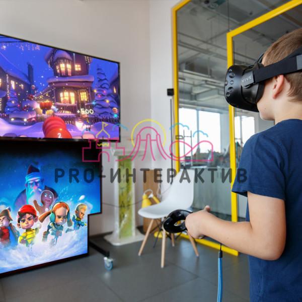 Снежная битва VR в аренду на новый год 4