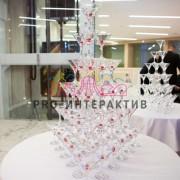 Пирамида из шампанского на велком зону