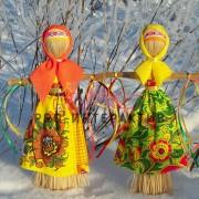 Соломенный оберег, игрушка из рафии, кукла -оберег