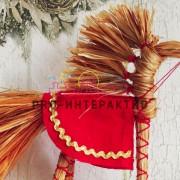 Лошадка из лыка, лошадка-оберег, игрушка из соломы, игрушка из лыка