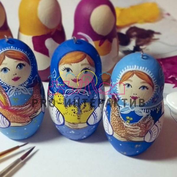 русский сувенир, матрешка, русская роспись