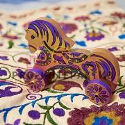 Деревянная лошадка мастер-класс по росписи