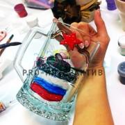 роспись бокалов акриловыми красками