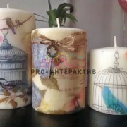 Свечи в стиле декупаж