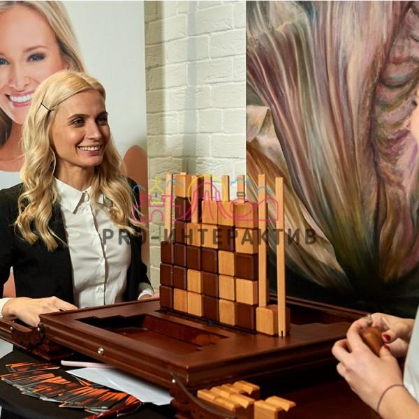 Четыре в ряд деревянная игра