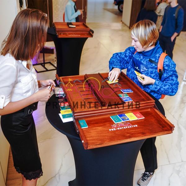 Деревянная игра карточки на мероприятие
