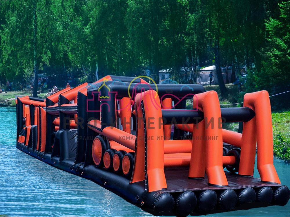 Надувные препятствия на воде