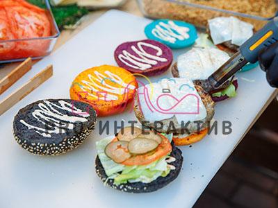 Цветные булочки для бургера