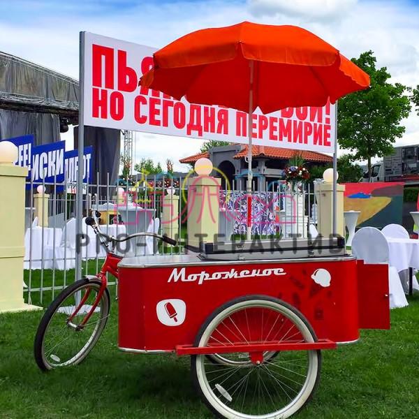 Велотележка с мороженным