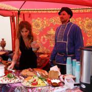 Русская кухня на празднике