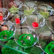 Овощи в форме молекулярного блюда